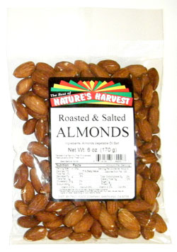 Almonds, Whole, Roasted and Salted
